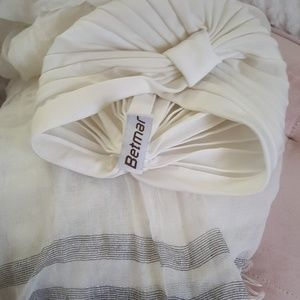 White / Silver Scarf & Turban Bundle
